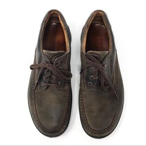 Ecco Men's Brown Leather Lace Up Oxford Shoes 43